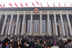 Members of the 12th National Committee of the Chinese People's Political Consultative Conference (CPPCC) arrive at the Tian'anmen Square in Beijing, capital of China, March 3, 2016. The fourth session of the 12th CPPCC National Committee opened in Beijing on March 3. EXPA Pictures © 2016, PhotoCredit: EXPA/ Photoshot/ Xue Yubin<br /><br />*****ATTENTION - for AUT, SLO, CRO, SRB, BIH, MAZ only*****