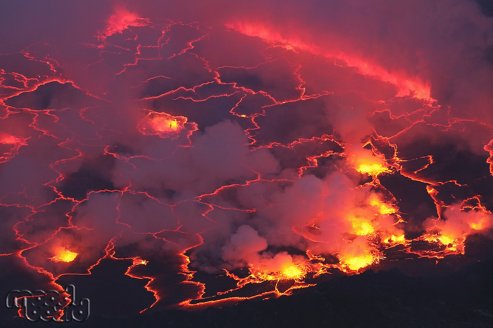 Nyiragongo Volcano  Lava Lake  Congo