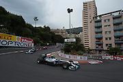 May 25, 2014: Monaco Grand Prix: Nico Rosberg  (GER), Mercedes Petronas leads the start of the Monaco Grand Prix
