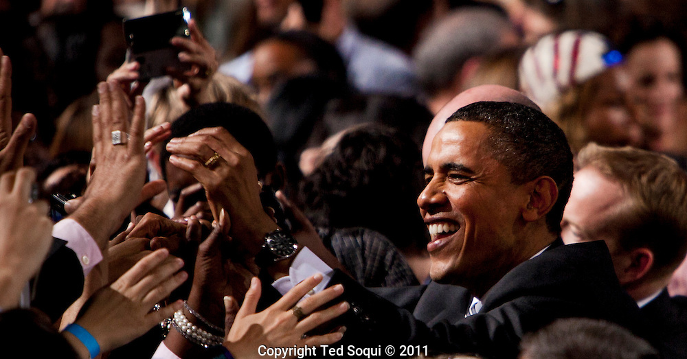 President Obama at a campaign fundraiser at the Sony Picture Studios.