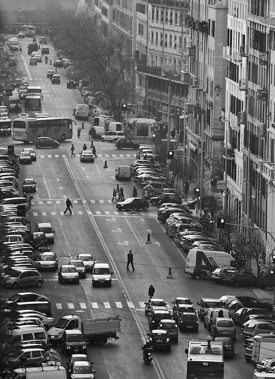 """Black and white photography.Street in Rome by Karl R Lilliendahl photographer. Photo is available as open edition and limited edition giclee print in four sizes. Click on """"Get Print"""" to see more details."""