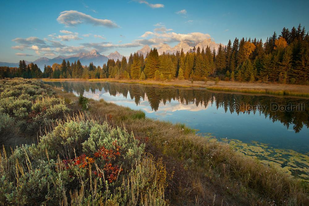 Morning at Schwabacher's Landing, Grand Tetons National Park, Jackson, Wyoming