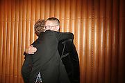 Stuart Vevers and Giles Deacon, Alex Shulman of Vogue and Mulberry host a party for Giles Deacon. ( Mulberry for Giles) Mulberry. New Bond St. 20 September 2006. ONE TIME USE ONLY - DO NOT ARCHIVE  © Copyright Photograph by Dafydd Jones 66 Stockwell Park Rd. London SW9 0DA Tel 020 7733 0108 www.dafjones.com