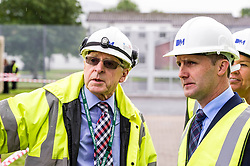 "Pictured: Contractor John  McArthur discussed the demolition with the Minister <br /> Justice Secretary Michael Matheson joined governor Caroline Johnstone to mark the start of demolition of Corton Vale Prison today. Cornton Vale is a women's prison in Stirling, operated by the Scottish Prison Service. Built in 1975, Cornton Vale comprises a total of 217 cells in its 5 houses. Ministers decided to close the prison after former Lord Advocate Elish Angiolini warned it was ""not fit for purpose"".<br />  <br /> Ger Harley 