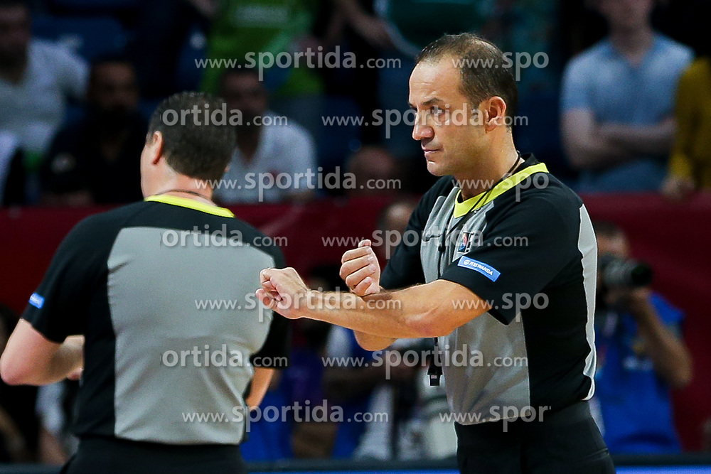 Referee during the Final basketball match between National Teams  Slovenia and Serbia at Day 18 of the FIBA EuroBasket 2017 at Sinan Erdem Dome in Istanbul, Turkey on September 17, 2017. Photo by Vid Ponikvar / Sportida