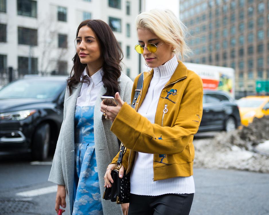 Caroline Daur and Tamara Kalinic, Outside Lacoste FW2017