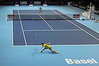 26.10.2016;  Basel; Tennis - Swiss Indoors 2016; Kei Nishikori (JPN) gegen Paolo Lorenzi (ITA)<br /> (Steffen Schmidt/freshfocus)
