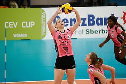 20180110 NED: CEV CUP Sliedrecht Sport - Beziers Angels VB: Sliedrecht<br />Eva Mori (1) of Beziers VB<br />&copy;2018-FotoHoogendoorn.nl / Pim Waslander