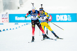 March 9, 2019 - –Stersund, Sweden - 190309 Vetle SjÃ¥stad Christiansen of Norway and Peppe Femling of Sweden competes in the Men's 10 KM sprint during the IBU World Championships Biathlon on March 9, 2019 in Östersund..Photo: Johan Axelsson / BILDBYRÃ…N / Cop 245 (Credit Image: © Johan Axelsson/Bildbyran via ZUMA Press)