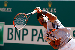 16.04.2012 Country Club, Monte Carlo, MON, ATP World Tour, Rolex Masters, 1. Runde, im Bild  Donald Young (USA) in action during the first round match between Donald Young (USA) and Paul-Henri Mathieu (FRA)  // during Rolex Masters tennis tournament of ATP World Tour at Country Club, Monte Carlo, Monaco on 2012/04/16. EXPA Pictures © 2012, PhotoCredit: EXPA/ Mitchell Gunn