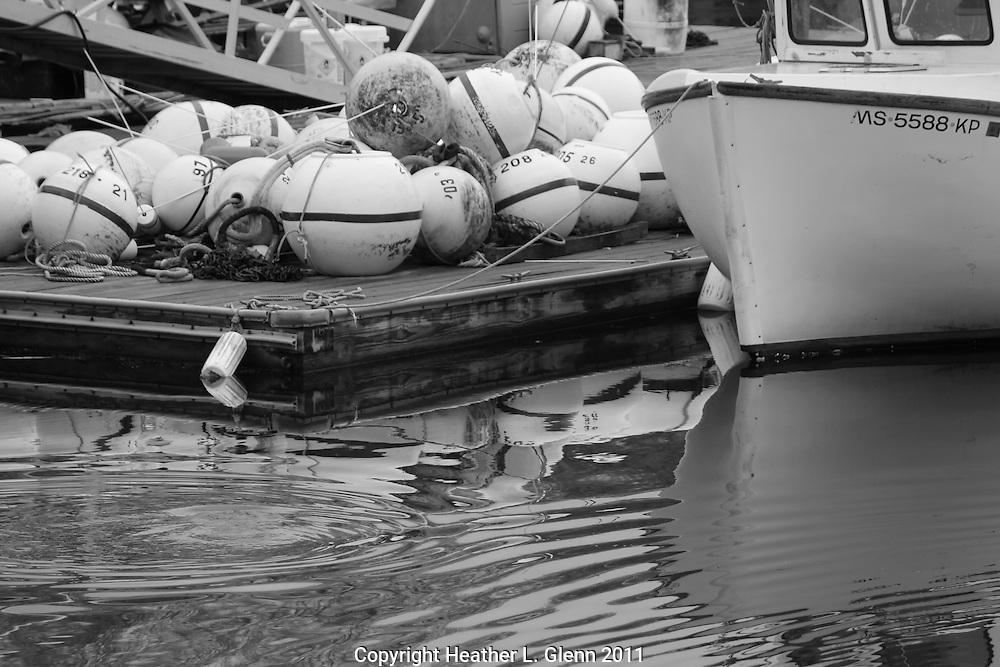 Boat and Bouys in Annisquam, Massachusetts