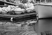 Boat and Bouys in Annisquam, Massachusetts