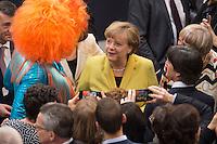 12 FEB 2017, BERLIN/GERMANY:<br /> Olivia Jones, Dragqueen, Angela Merkel, CDU, Bundeskanzlerin, Joachim Loew, Fussball-Bundestrainer, und Claudia Roth, B90/Gruene, ehem. Bundesvorsitzende, (v.L.n.R.), im Gespräch, 16. Bundesversammlung zur Wahl des Bundespraesidenten, Reichstagsgebaeude, Deutscher Bundestag<br /> IMAGE: 20170212-02-036<br /> KEYWORDS; Gespräch, Katrin Göring-Eckardt, Joachim Löw, Bundespraesidentenwahl, Bundespräsidetenwahl