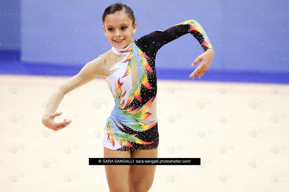 Karyna KOLTYUKOVA of Comense 1872  performing during the 2011 italian Serie A rhythmic gymnastic competition, that took place in Pavia (Italy) on 5th November, 2011.