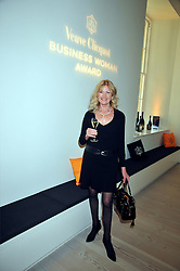 DEBBIE MOORE at the presentation of the Veuve Clicquot Business Woman Award 2009 hosted by Graham Boyes MD Moet Hennessy UK and presented by Sir Trevor Macdonald at The Saatchi Gallery, Duke of York's Square, Kings Road, London SW1 on 28th April 2009.