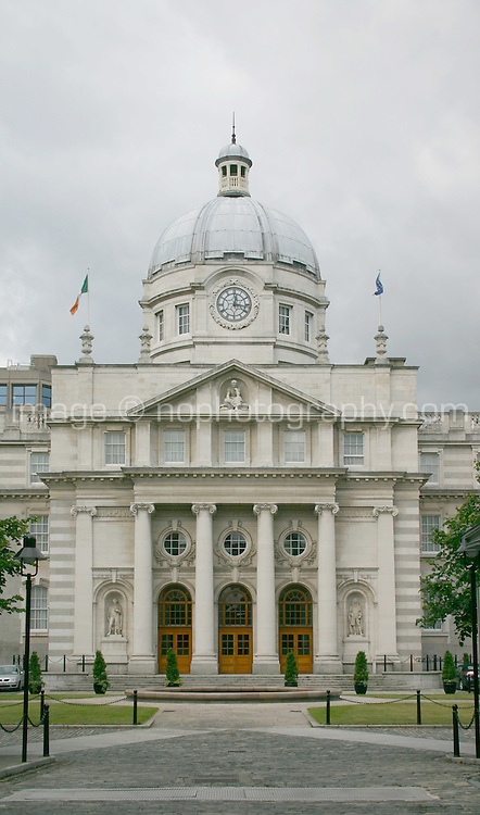Irish Government Buildings Dublin Ireland on a cloudy day