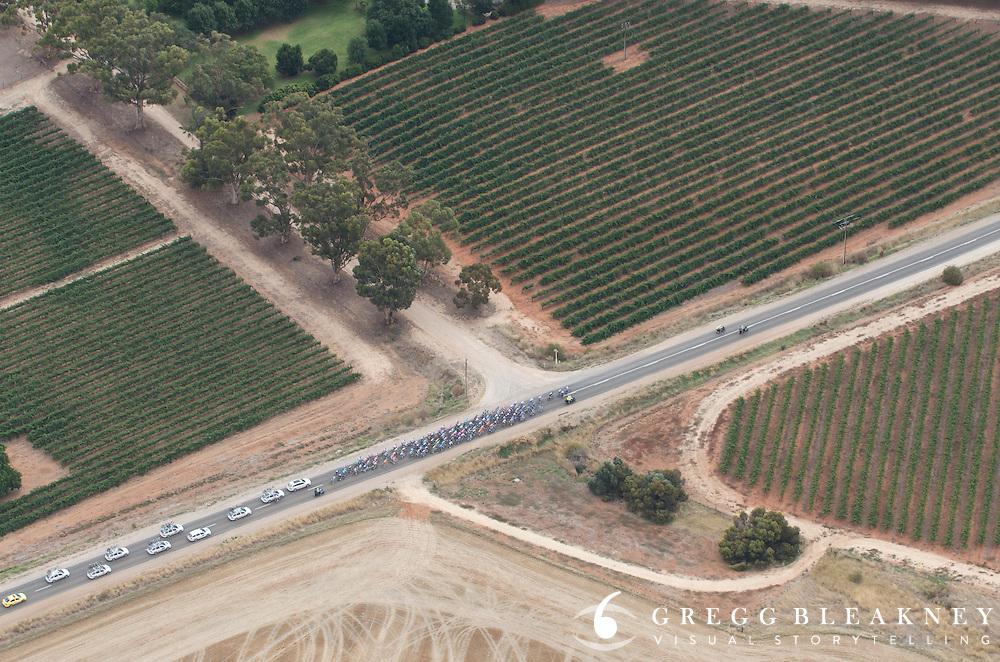 Clare Valley Vineyards - 2012 Santos Tour Down Under - Stage 1 Helicopter Aerials - Adelaide