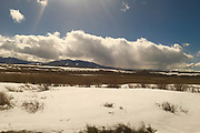 Amtrak Zephyr landscape views, winter, Fraser, Colorado