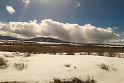 Amtrak Zephyr landscape views, winter, Fraser, Colorado