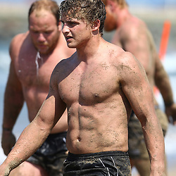 DURBAN, SOUTH AFRICA, December 10. 2015 - Patrick Lambie during The Cell C Sharks Pre Season Beach South Beach training for the 2016 Super Rugby Season . (Photo by Steve Haag)<br /> images for social media must have consent from Steve Haag