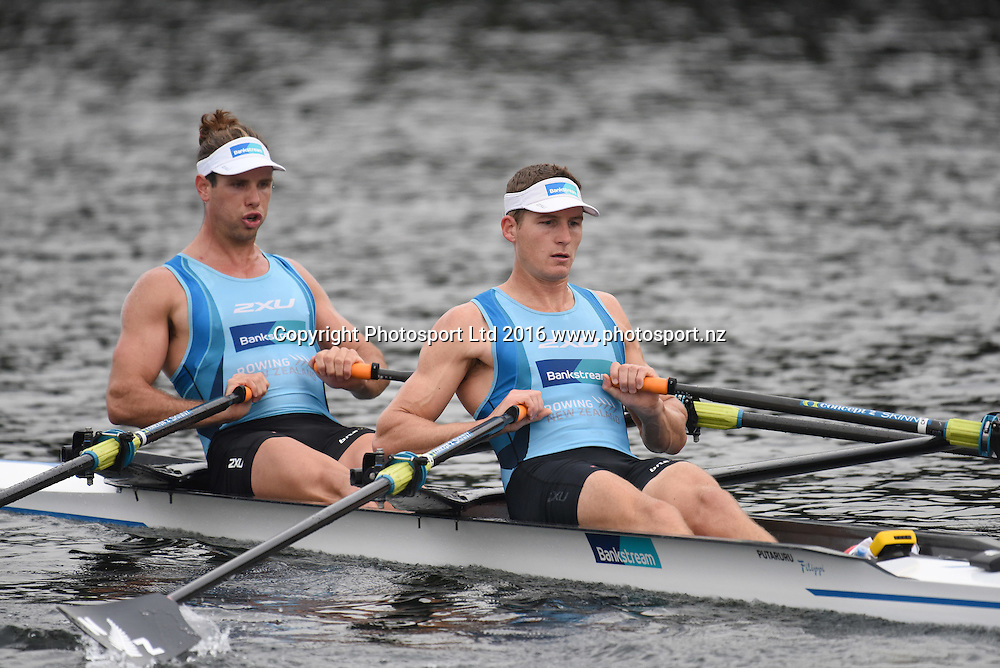 Chris Harris and Robbie Manson, Men's Double Sculls at the Rowing NZ Media Day, Lake Karapiro, Cambridge, New Zealand, Wednesday 4th May 2016.<br /> Photo: Jeremy Ward / www.photosport.nz