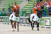 The Netherlands World Champion Team Test, 2. France 3. USA<br /> Alltech FEI World Equestrian Games™ 2014 - Normandy, France.<br /> © DigiShots