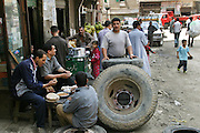 Zabaleen neighborhood in Cairo, Egypt. The Zabaleen districts (garbage collectors in Arabic) are home to the huge recycling industry run by the garbage collectors and their families. They recycle up to 87% of the trash they collect.