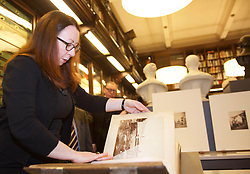 Annie Lyden, international photography curator at the National Galleries of Scotland, unveils collection of 14,000 images at National Portrait Gallery, Edinburgh pic copyright Terry Murden @edinburghelitemedia