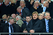 (R) Zbigniew Boniek - President of Polish Football Association before the 2014 World Cup Qualifying Group H football match between England and Poland at Wembley Stadium in London on October 15, 2013.<br /> <br /> Great Britain, London, October 15, 2013<br /> <br /> Picture also available in RAW (NEF) or TIFF format on special request.<br /> <br /> For editorial use only. Any commercial or promotional use requires permission.<br /> <br /> Mandatory credit:<br /> Photo by © Adam Nurkiewicz / Mediasport