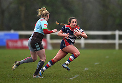 Sydney Gregson of Bristol Ladies with the ball - Mandatory by-line: Paul Knight/JMP - 03/02/2018 - RUGBY - Cleve RFC - Bristol, England - Bristol Ladies v Harlequins Ladies - Tyrrells Premier 15s