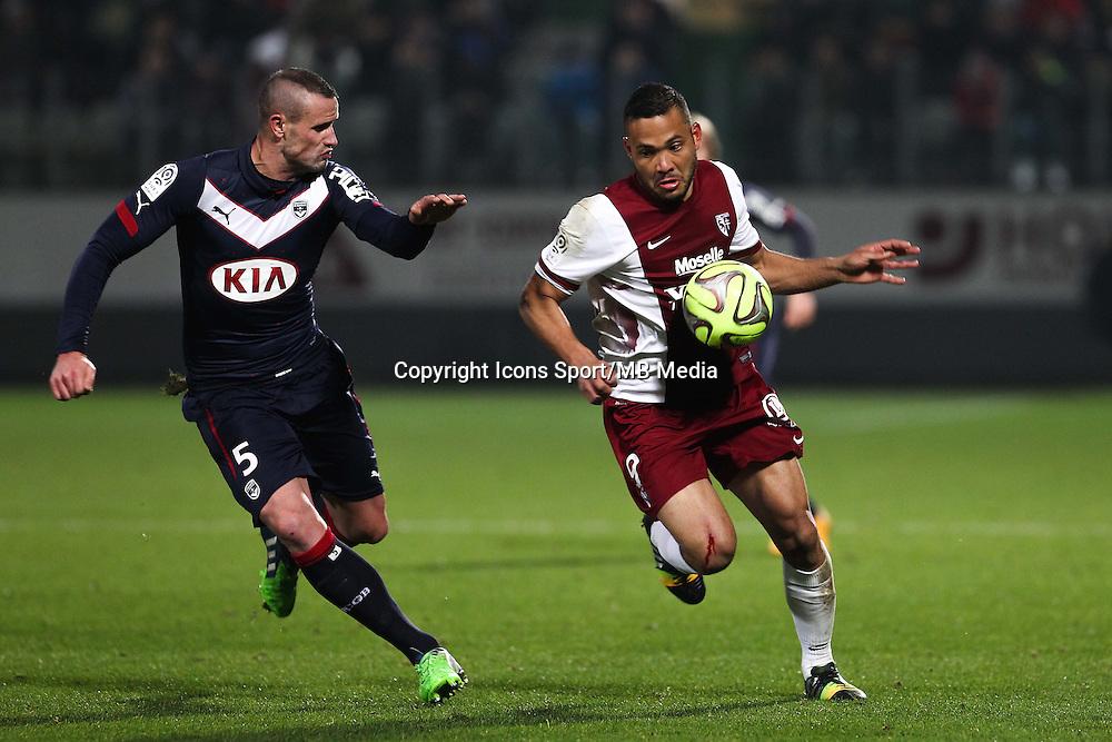 Nicolas PALLOIS / FALCON - 03.12.2014 - Metz / Bordeaux - 16eme journee de Ligue 1 -<br />Photo : Fred Marvaux / Icon Sport