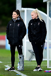 Carla Humphrey of Bristol City and Jess Woolley - Mandatory by-line: Ryan Hiscott/JMP - 08/12/2019 - FOOTBALL - Stoke Gifford Stadium - Bristol, England - Bristol City Women v Birmingham City Women - Barclays FA Women's Super League