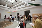 "Giardini, Palazzo delle Esposizioni. International exhibition ""Fare Mondi // Making Worlds // Bantin Duniyan // ???? // Weltenmachen // Construire des Mondes // Fazer Mundos..."" curated by Daniel Birnbaum..Sadamasa Motonaga, ""Water work"", 1955-1965"