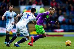 Andreas Weimann of Bristol City goes past Derrick Williams of Blackburn Rovers - Mandatory by-line: Robbie Stephenson/JMP - 09/02/2019 - FOOTBALL - Ewood Park - Blackburn, England - Blackburn Rovers v Bristol City - Sky Bet Championship
