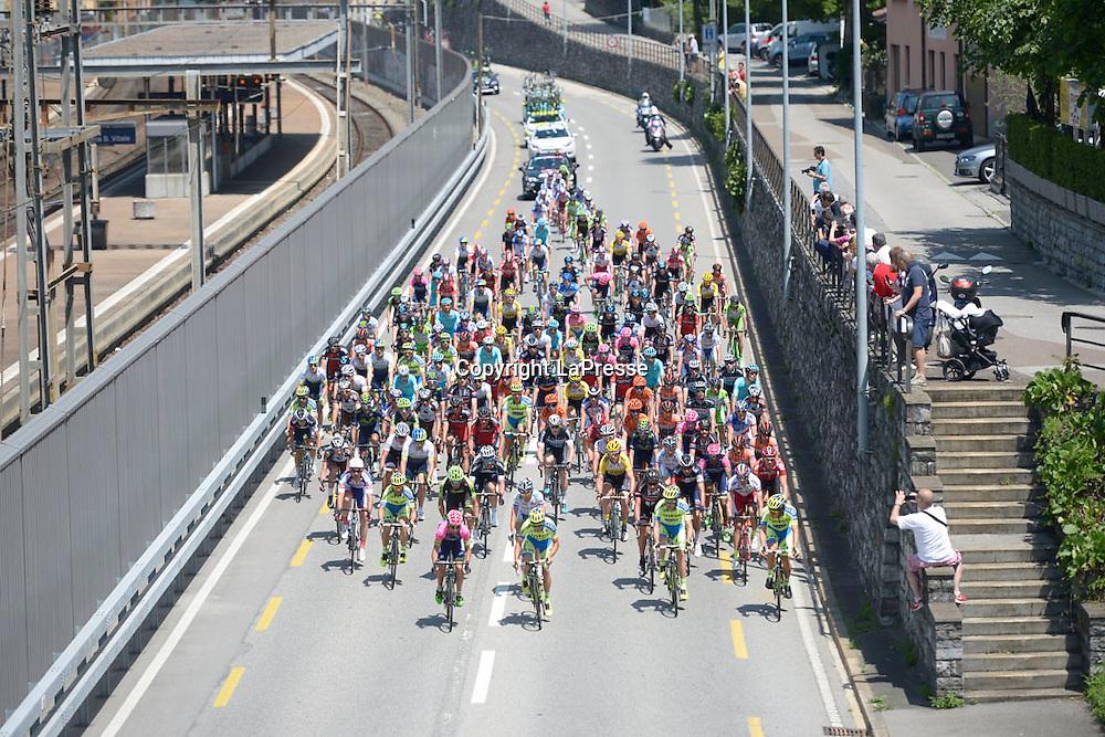 Foto LaPresse - Fabio Ferrari<br /> 28/05/2015 Melide (Svizzera)<br /> Sport Ciclismo<br /> Giro d'Italia 2015 - 98a edizione - Tappa 18 - da Melide a Verbania - 170 Km ( 105,6 Miglia ) <br /> Nella foto: panoramica<br /> <br /> Photo LaPresse - Fabio Ferrari<br /> 28 May 2015 Melide ( Switzerland )<br /> Sport Cycling<br /> Giro d'Italia 2015 - 98 edition - stage 18th  - from Melide to Verbania -  Km 170 ( 105,6 Miles ) <br /> In the pic: panoramic view