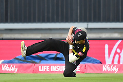 Sussex Sharks' Luke Wright (not pictured) is caught by Somerset's Max Waller during the Vitality T20 Blast Semi Final match on Finals Day at Edgbaston, Birmingham.