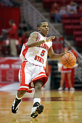 "11 November 2007: Keith ""Boo"" Richardson.  Illinois State Redbirds defeated the Missouri - St. Louis Tritons 70-37 in an early season game on Doug Collins Court in Redbird Arena on the campus of Illinois State University in Normal Illinois."