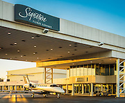 Ramp side entrance to Signature Flight Support at Atlanta's Dekalb Peachtree Airport.
