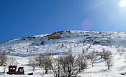Israel, snow covered Hermon Mountain
