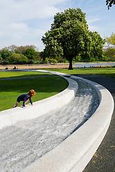 Princess Diana memorial fountain in Hyde Park London United Kingdom