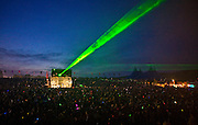 The laser show at Fatboy Slim headlining at Rockness,  2008.