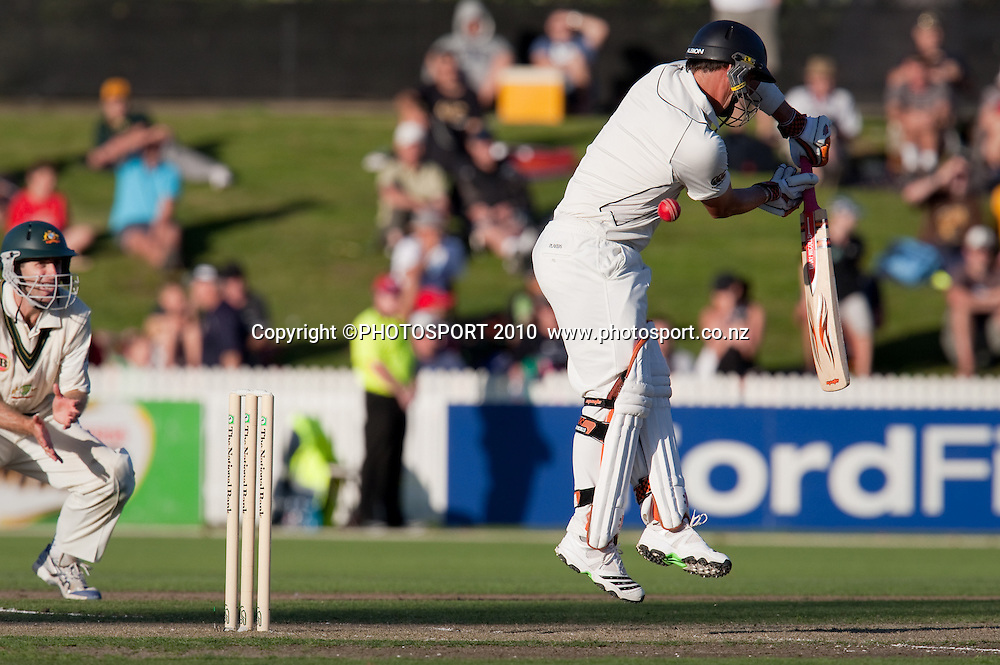 Matthew Sinclair bats during day one of the 2nd cricket test match between NZ Black Caps and Australia, at Seddon Park, Hamilton, 27 March 2010. Photo: Stephen Barker/PHOTOSPORT