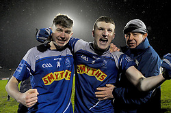 Conor McGuinness and Conor Diskin celebrate Claremorris U21 victory after extra time.<br />Pic Conor McKeown