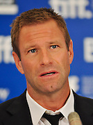 14.SEPT.2010. TORONTO<br /> <br /> AARON ECKHART ATTENDS THE PRESS CONFRENCE FOR NEW FILM THE RABBIT HOLE AT THE 35TH TORONTO FILM FESTIVAL IN TORONTO.<br /> <br /> BYLINE: EDBIMAGEARCHIVE.COM<br /> <br /> *THIS IMAGE IS STRICTLY FOR UK NEWSPAPERS AND MAGAZINES ONLY*<br /> *FOR WORLD WIDE SALES AND WEB USE PLEASE CONTACT EDBIMAGEARCHIVE - 0208 954 5968*