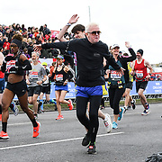 London, England, UK. 28 April 2019. Chris Evans at the Elite Start runners at Virgin Money London Marathon at Greenwich.