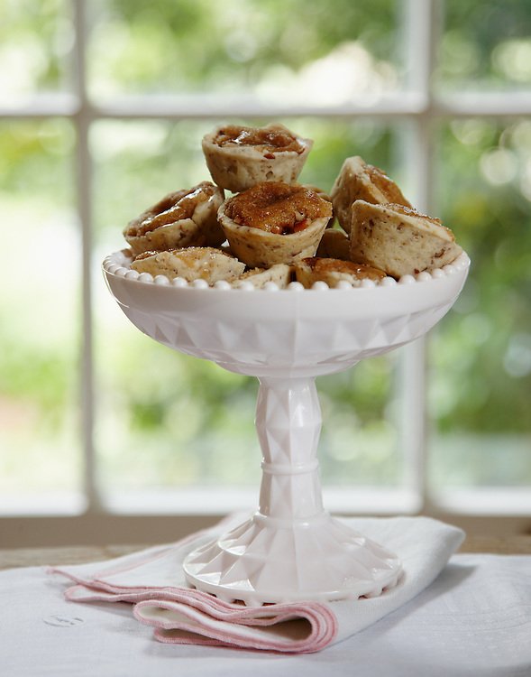 Pecan Tassies.  Around the Southern Table Cookbook by Rebecca Lang