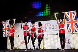 Dance Team during event Miss Sports of Slovenia 2012, on April 21, 2012, in Festivalna dvorana, Ljubljana, Slovenia. (Photo by Urban Urbanc / Sportida.com)