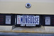 Bellmore, New York, USA. 11th August 2017. New York license plate MONGQQSE is seen at the Bellmore Friday Night Car Show.