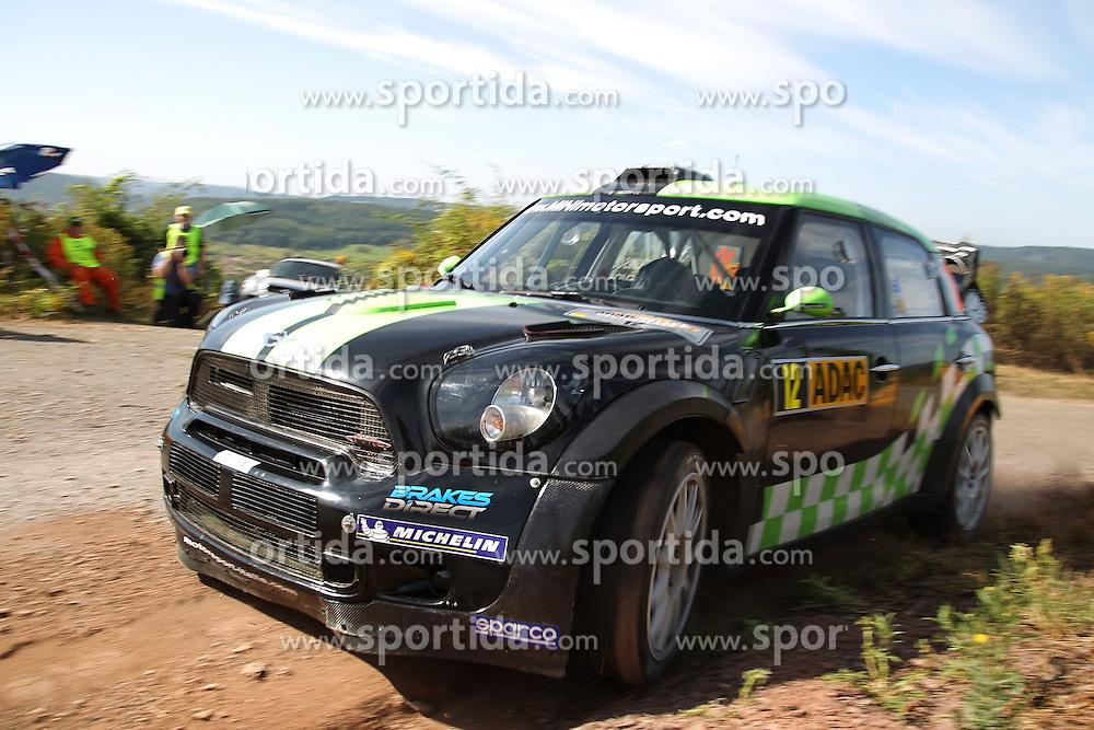 23.08.2012, Kommeling, Konz, SWE, FIA WRC, Rallye Deutschland, im Bild Christopher ATKINSON/ Stephane PREVOT (WRC Team MINI Portugal) // during FIA World Rally Championship, Rally Germany at Kommeling, Konz, Germany on 2012/08/23. EXPA Pictures © 2012, PhotoCredit: EXPA/ Eibner/ Alexander Neis..***** ATTENTION - OUT OF GER *****