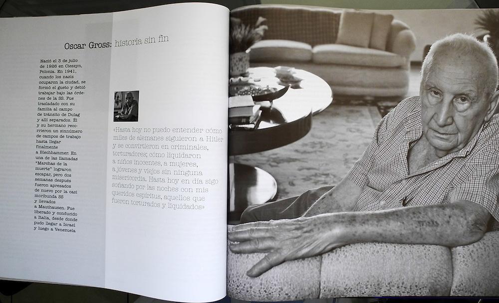 Libro / Book EXILIO A LA VIDA<br /> Retratos de los Sobrevivientes del Holocausto.<br /> UIC &quot;Union Israelita de Caracas&quot;<br /> 2011